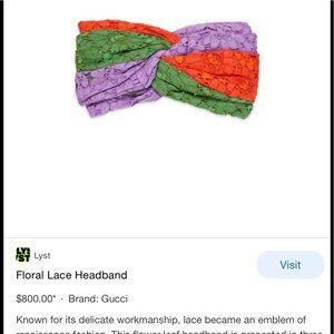 Authentic Gucci lace multicolor headband